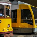 Yellow trams in Belem